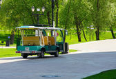 Moscow, Russia. 12.05.2014 . Tour electric car with chauffeur pa — Stock Photo