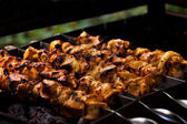 Meat on the coals — Stock Photo