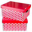 Stock Photo: Two red boxes