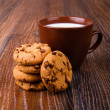 cookies en melk — Stockfoto