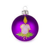 Фиолетовый рождественский шар — Стоковое фото