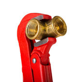 Verstellbarer schraubenschlüssel — Stockfoto