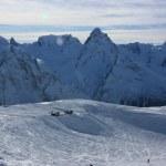 Caucasus Mountains in winter. Dombay, Mount Belalakaya — Stock Photo #13538592
