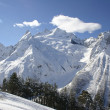Caucasus Mountains in winter. Dombay, Mount Belalakaya — Stock Photo