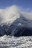 Cloudy Mountains. Caucasus Mountains, Dombay. — Stock Photo