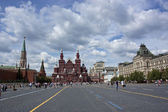 Kremlin and historical museum in red square — Stock Photo