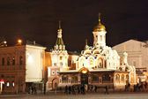 Kazan Cathedral in Red Square at night — Stock Photo