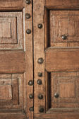 Decorative wooden door — Stock Photo