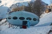 UFO at the ski resort — Stock Photo