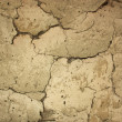 Texture of cracks, old clay wall — 图库照片