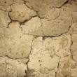 textura de grietas, antigua muralla de arcilla — Foto de Stock