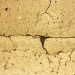 Royalty-Free Stock Photo: Texture of cracks, old clay wall