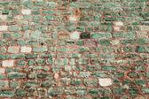 Green wall of stone — Stock Photo