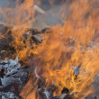 Burning garbage dump — Stock Photo