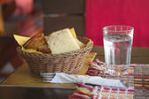 Bread and water — Stock Photo