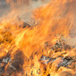 Stock Photo: Burning garbage dump