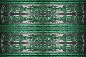 Old green coinage background — Stock Photo