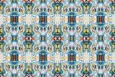 Intricate ikat pattern background — Stock Photo
