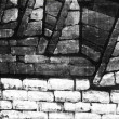 Black and gray wall background — Stock Photo
