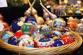 Palline decorate natalizie — Stock Photo