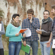 Group of  Students at Park — Stock Photo
