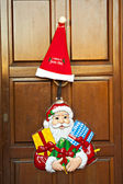 Christmas at the door — Stock Photo