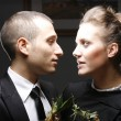 Romantic young couple in elegant — Stockfoto