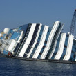 Storm cruise ship concordia — Stock Photo