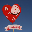Stock Photo: Heart in the sky background