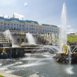 Grand cascade on june 30, 2013 PETERHOF, RUSSIA — Stock Photo
