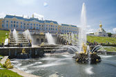 Grand cascade on june 30, 2013 PETERHOF, RUSSIA — Stock Photo