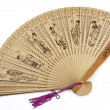 Wooden folding fan — Stock Photo