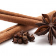 Star anise, cinnamon and cloves — Stock Photo #29213405