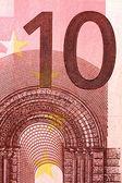 Ten euro banknote — Stock Photo