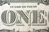 One dollar detail — Stock Photo