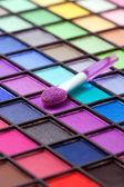 Eye shadows make-up palette — Stock Photo
