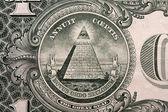 One dollar bill, the pyramid — Stock Photo