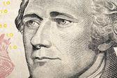President hamilton on  dollar bill — Stock Photo