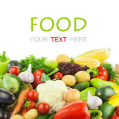 Different Vegetables / Big Assortment of Food — Stock Photo