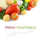 Fresh Organic Different Vegetables / on white background — Stock Photo