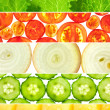 Vegetable banners collection - Set of 6 different mackro backgro — Stock Photo