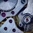 Macro Mechanical Gear Background - Clockwork — Stock Photo