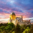 Fairy Palace against sunset sky - Panorama of Palace in Sintra, — Stock Photo #27416867