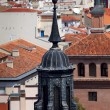 Aerial view of Madrid (Spain) - dome and roofs of the city — Stock Photo