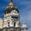 Madrid (Spain) - Famous Statue - Gran Via — Stock Photo