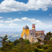 Aerial view of Palácio da Pena - Sintra, Lisboa - Portugal — Stock Photo