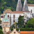 Stock Photo: Palace National in Sintra, Royal Palace, Portugal , vertical