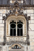 Ornamental window - Quinta da Regaleira Palace in Sintra, Lisbon — Stock Photo
