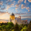 Fairy Palace against beautiful sky - Panorama of National Pala — Stock Photo #39511301