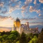 Fairy Palace against beautiful sky - Panorama of National Pala — Stock Photo #39511301